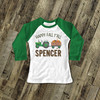 Happy fall y'all tractor and leaves raglan shirt