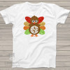 Thanksgiving turkey monogram glitter Tshirt