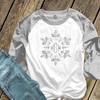 Monogram glitter snowflake  ADULT raglan shirt