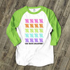 Teacher 100 days smarter raglan shirt