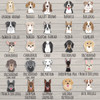 Pet's first christmas ornament With Personalized dog breeds