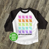 Student 100 days smarter tally marks raglan shirt