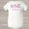 First birthday snowflake sparkly glitter bodysuit