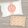 Monogrammed toddler travel pillow floral