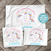 Unicorn personalized pillowcase / pillow