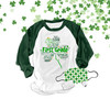 St. Patrick's Day shamrock teacher name grade personalized raglan shirt