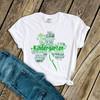 St. Patrick's Day shamrock teacher name grade personalized shirt