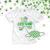 St. Patrick's Day shamrock teacher name grade personalized shirt