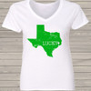 St. Patrick's Day lucky state womens Vneck shirt