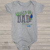 Fathers Day hooked on dad bodysuit or Tshirt