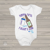 First Fathers Day cheers boy bodysuit