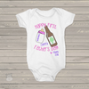First Fathers Day cheers girl bodysuit