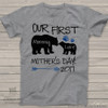 First Mothers Day mommy baby bear Tshirt