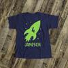 Rocket spaceship birthday DARK Tshirt