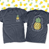 Teach like a pineapple ink or gold foil personalized unisex DARK tshirt