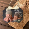 Twins First Christmas photo ornament