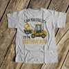 Birthday shirt boy any age excavator can you dig it personalized Tshirt