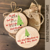 Couple's First Christmas important dates Christmas tree cut pine wood ornament