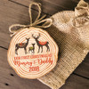 Reindeer First Christmas mommy & daddy cut pine wood ornament