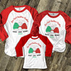 First Christmas daddy mommy baby bear matching THREE raglan shirt gift set