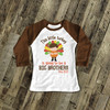 Big brother to be little turkey pregnancy announcement raglan shirt