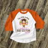 Big sister to be little turkey pregnancy announcement raglan shirt