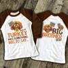 Thanksgiving big brother lil turkey listen up pregnancy announcement raglan shirt