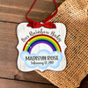 Our rainbow baby metal Christmas ornament