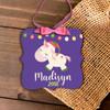 Christmas unicorn personalized ornament