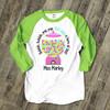 Teacher 100 days bubble gum unisex adult raglan shirt