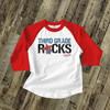 Back to school third grade or any grade rocks childrens raglan shirt