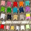 Monogram sparkly glitter or foil fleece blanket