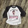 Big sister pirate shiver me timbers pregnancy announcement raglan shirt