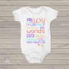 Fathers Day worlds best daddy girl bodysuit or Tshirt
