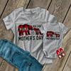 First Mothers Day mama baby buffalo plaid bear matching shirt gift set