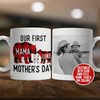 First Mothers Day buffalo plaid bear coffee mug