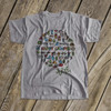 Happy camper kids camping collage vacation Tshirt