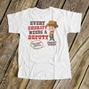 Big brother to be cowboy sheriff pregnancy announcement Tshirt