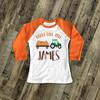 Fall shirt tractor happy fall y'all personalized raglan Tshirt