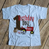 First birthday shirt boy any age farm red tractor personalized Tshirt