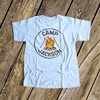 Birthday shirt camping any age boy campout theme personalized Tshirt