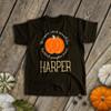 First birthday pumpkin gold glitter DARK bodysuit or Tshirt