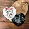 Love at first sight ultrasound photo pregnancy announcement heart ornament
