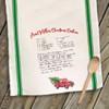 Christmas handwritten keepsake recipe tea towel
