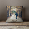 Wedding photo let the adventure begin throw pillowcase pillow