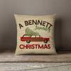 Retro family Christmas personalized pillowcase pillow