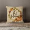 Fall autumn wreath pumpkin personalized family pillowcase pillow