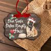 Fawn French bulldog dear santa define naughty Christmas ornament
