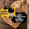 Superhero bat costume boy personalized ornament