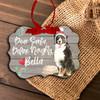 Bernese Mountain Dog dear santa define naughty Christmas ornament